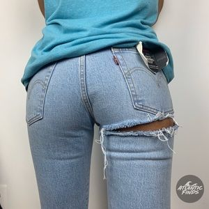 NWT Levi's High Waist wedgie Skinny Butt Rip Jeans